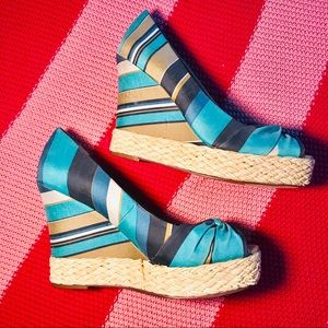Report blue ribbon rope wedges NEW women's 10